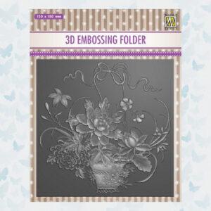 Nellies Choice 3D Embossing Folder - Boeket EF3D030