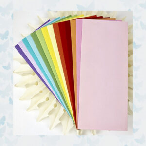 Picket Fence Studios Slim Line Envelopes 4.125 x 9.5 Inch Rainbow (EN-100)
