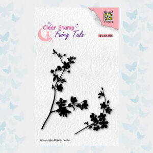Nellies Choice Clearstempel Silhouette Fairy Tale Nr 32 Bloeiende Takjes FTCS032