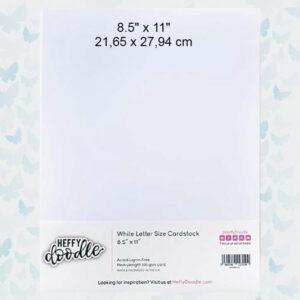 Heffy Doodle White Letter Size Cardstock HFDW8511C