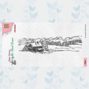 Nellies Choice Clearstamp - Idyllic Floral - Slimline Landschap IFS044