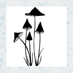 Lavinia Clear Stamp Slender Mushrooms Miniature LAV151