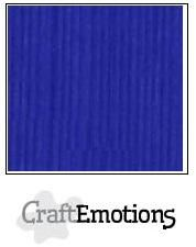 CraftEmotions linnenkarton 10 vel kobaltblauw LHC-55 /A4/ 250gr