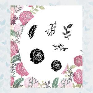 Majestix Clear Stamps Seasonal Rose MASE-02