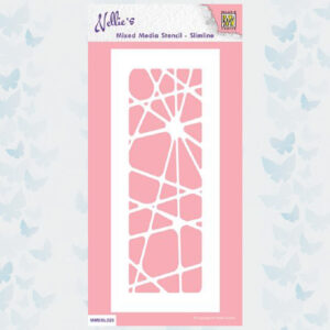 Nellies Choice Mixed Media Slimline Stencils Abstract MMSSL020