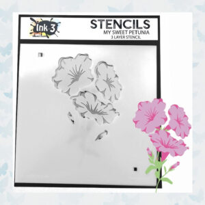 INKon3 - My Sweet Petunia 3 Layer Stencil
