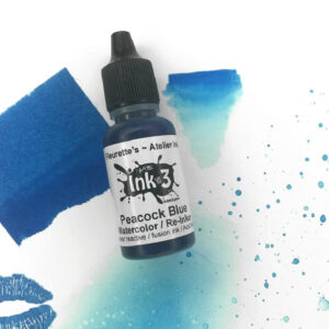 Atelier Watercolor / Re-inker Peacock Blue - Artist Grade Fusion Ink