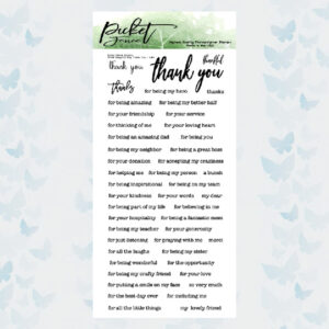Picket Fence Studios Small Ways To Say Thank You Clear Stamps (S-147)