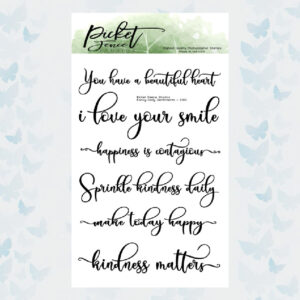 Picket Fence Studios Fancy Daily Sentiments Clear Stamps (S-180)