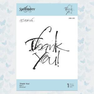 Spellbinders Thank You Clear Stamp (SBS-201)