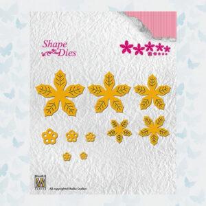 Nellies Choice Shape Dies Poinsettia Flower SD138