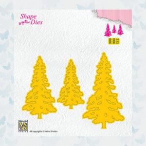 Nellies Choice Shape Die - Kerstbomen SD167