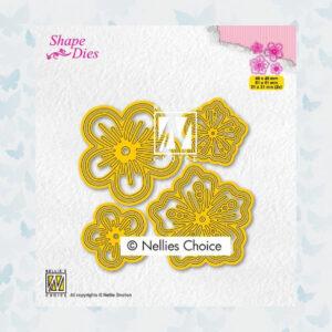 Nellies Choice Shape Die - Bloemen set SD200