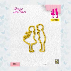 Nellies Choice Shape Die - Meisje en Jongen SD216