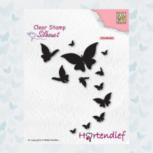 Nellies Choice Clear Stempel - Silhouette Pets - Vlinders SIL094
