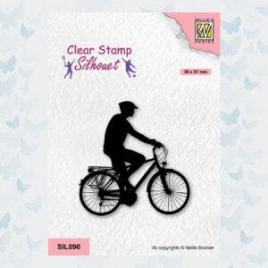 Nellies Choice Clearstempel - Silhouette - Sport Fietsen 1 SIL096