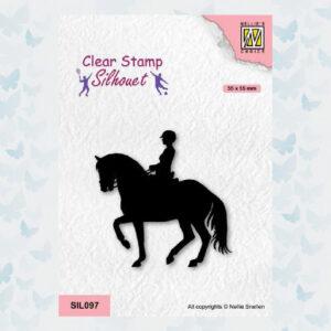 Nellies Choice Clearstempel - Silhouette - Sport Paardrijden SIL097