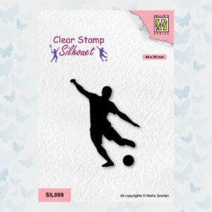 Nellies Choice Clearstempel - Silhouette - Sport Voetballen 1 SIL099