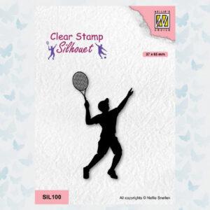 Nellies Choice Clearstempel - Silhouette - Sport Tennissen SIL100
