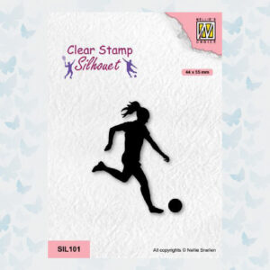 Nellies Choice Clearstempel - Silhouette - Sport Voetballen 2 SIL101