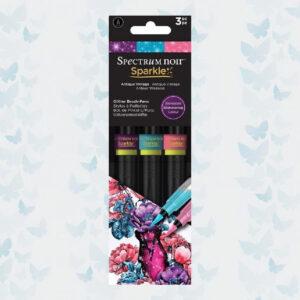 Spectrum Noir Sparkle Brush Pens Antique Vintage (3pcs) (SPECN-SPA-AVI3)