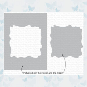 My Favorite Things Watercolor Wash Square Stencil (ST-158)
