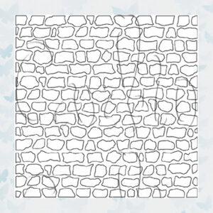 Majemask Stencil Stone Wall STST-02