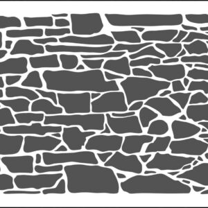 The Crafter's Workshop Rock Wall Slimline Stencil (TCW2303)