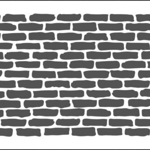 The Crafter's Workshop Bricks Horizontal Slimline Stencil (TCW2305)