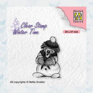 Nellies Choice Clearstamp - Winter Time Sneeuwpop 1 WT005