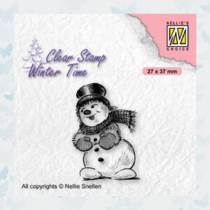 Nellies Choice Clearstamp - Winter Time Sneeuwpop 2 WT006