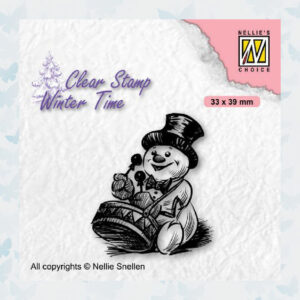 Nellies Choice Clearstamp - Winter Time Sneeuwpop 3 WT007