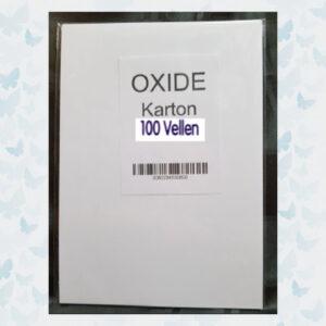 OXIDE Kaart karton 300grs Glad 000012/VC - 100 Vellen