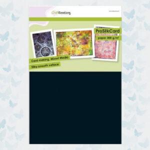 CraftEmotions ProSilkCard Zwart - Luxe glad karton A4