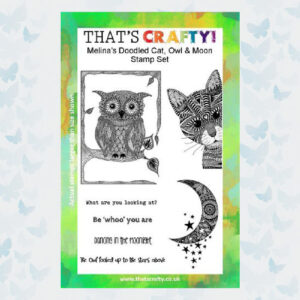 That's Crafty! Clearstamp A5 - Melina's Kat, Uil en Maan 107111