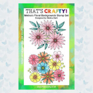 That's Crafty! Clearstamp A5 - Melina's Bloemen achtergrond 107113