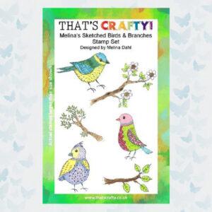 That's Crafty! Clearstamp A5 - Melina's Vogels en Takken 107114