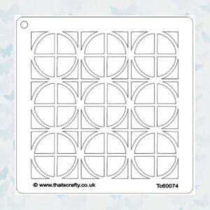That's Crafty! Mask stencil - Vierkanten en Cirkels 107116