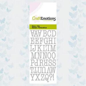 CraftEmotions Die - Typewriter Hoofdletters 115633/0261