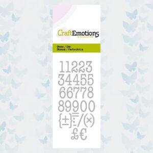 CraftEmotions Die - Typewriter Cijfers 115633/0263