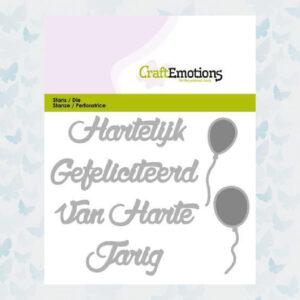 CraftEmotions Die Tekst - Hartelijk Gefeliciteerd