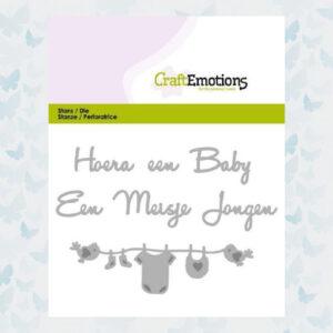 CraftEmotions Die Tekst - Hoera een baby 115633/0305