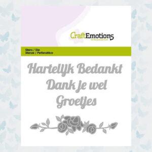 CraftEmotions Die Tekst - Hartelijk Bedankt 115633/0306