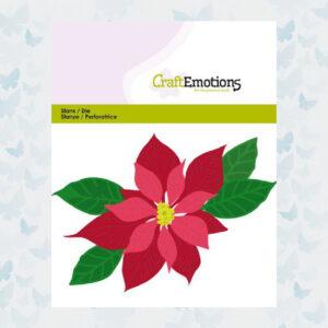 CraftEmotions Die - Kerstster, Poinsettia 115633/0432