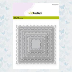 CraftEmotions Big Nesting Die - Vierkanten scalop XL 115633/0922