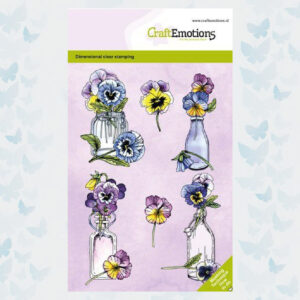 CraftEmotions Clear Stempels Viooltjes Dimensional stamp 130501/1333