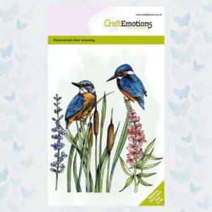 CraftEmotions Clear Stempels - Ijsvogel 130501/1334
