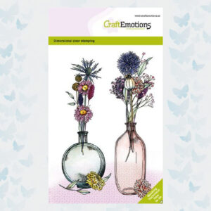 CraftEmotions Clear Stempels Droogbloemenvaas 1 Dimensional stamp 130501/1338