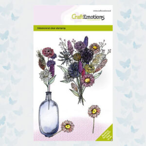 CraftEmotions Clear Stempels Droogbloemenvaas 2 Dimensional stamp 130501/1339