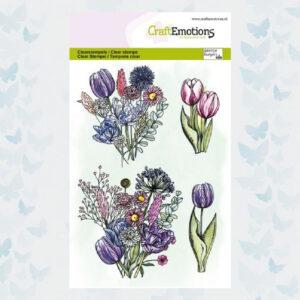CraftEmotions Clear Stempels Tulpenboeket 130501/1340